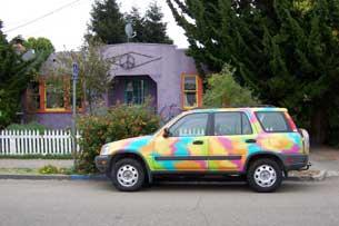 [Honda CRV with house]
