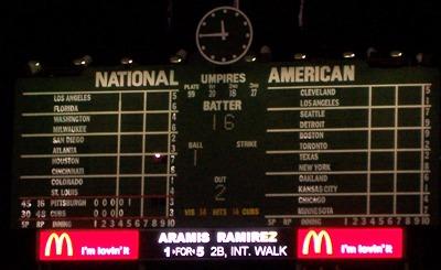 [Center field scoreboard: Click for enlargement]
