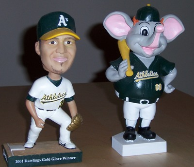 [Remaining A's bobbleheads]