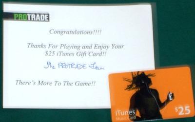 [I won an iTunes gift card!]